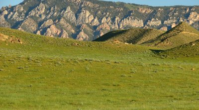 Scenic mountain backdrop on this Wyoming property for sale