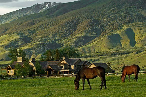 Three peaks ranch sold montana ranches for sale swan for Montana ranch house