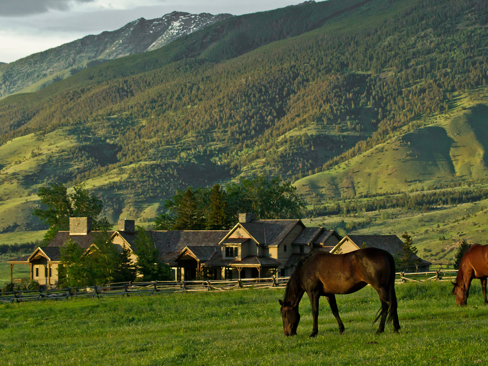 Three peaks ranch sold swan land company for Montana ranch house