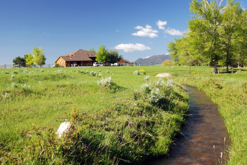 Creek running through the Montana property for sale has much to offer