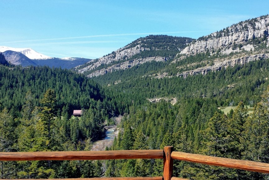 No need to leave the deck on this Montana ranch for sale