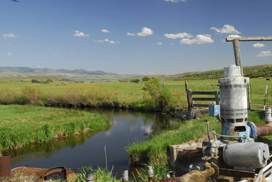 Water available for grazing livestock on this Idaho land for sale