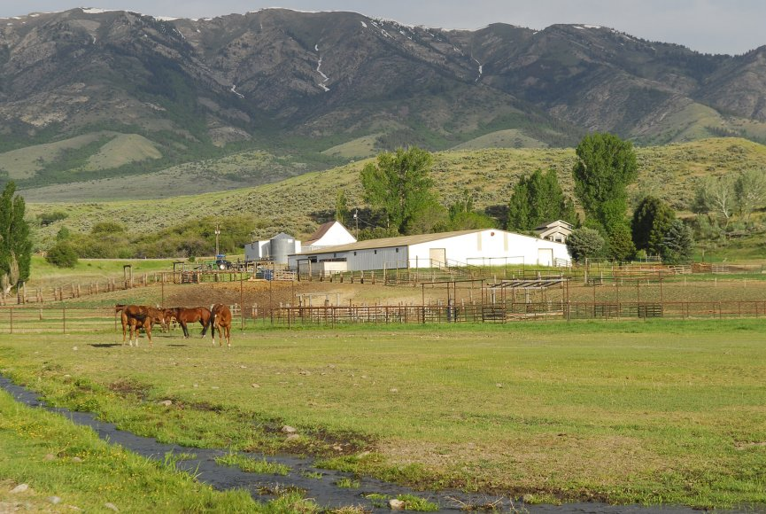 Scenic backdrop on this Idaho property for sale