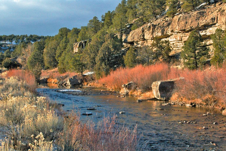 Healthy river running through this New Mexico ranch for sale