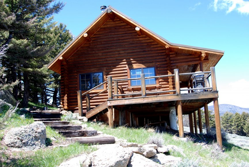 Expansive views from the cabin on this Montana property for sale