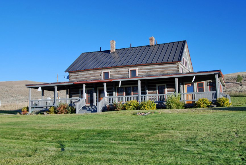 Home for sale on this Montana ranch listed with Swan Land Company