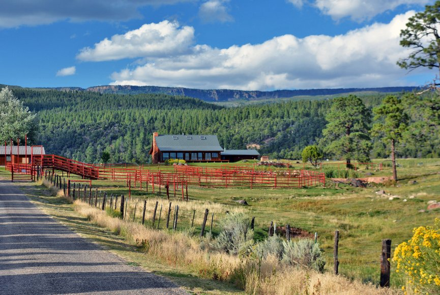 Utah ranch for sale is bordered by National Forest land on three sides