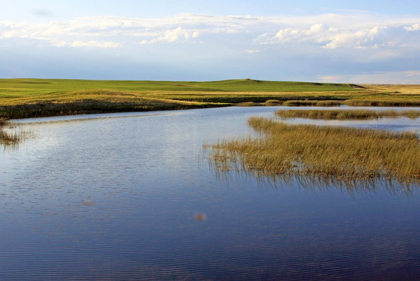Fresh water on this Montana land for sale