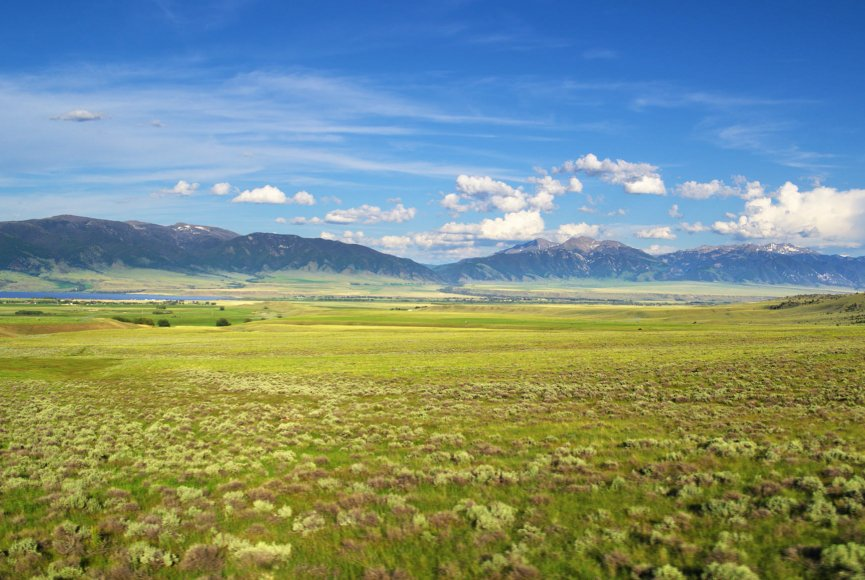 Land for sale in Montana has natural beauty