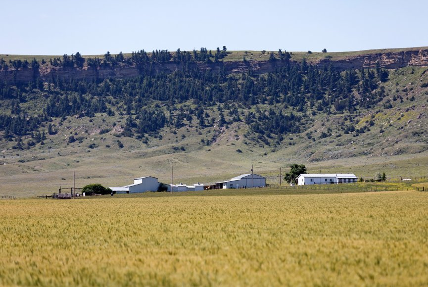 Views near and far on this Montana ranch for sale