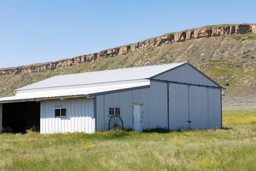 Montana ranch for sale has a sturdy well maintained barn
