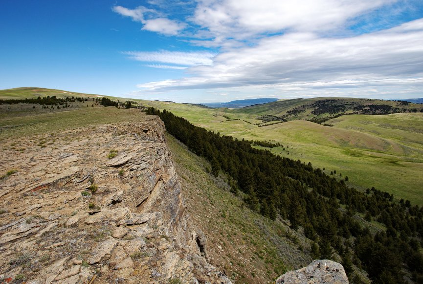 Diverse land types on this Montana ranch for sale