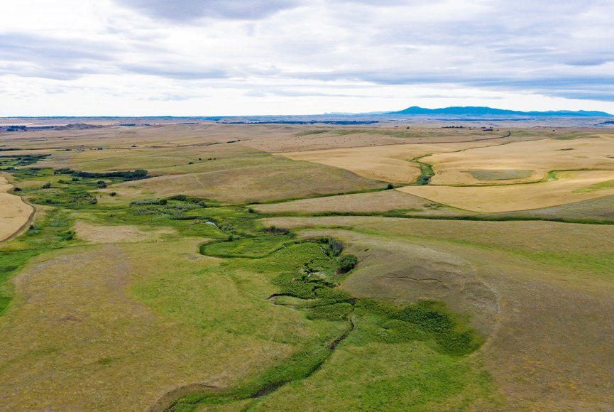 Wide open space on this Montana property for sale