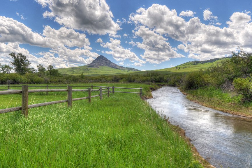 Creek running through this Montana ranch for sale has much to offer