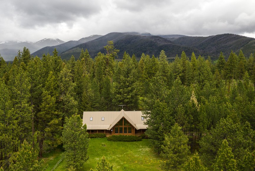 Montana property for sale is surrounded in natural beauty