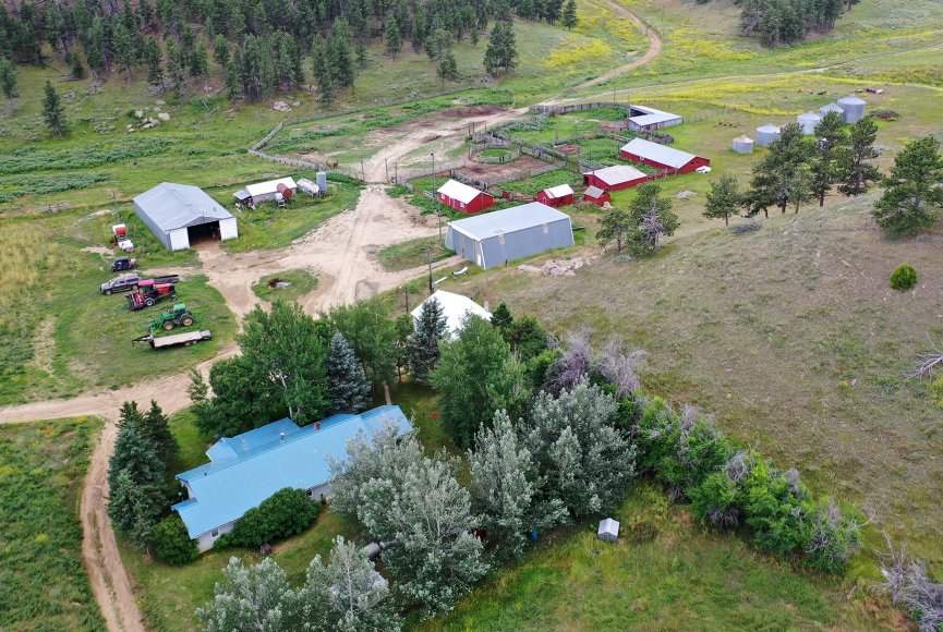 Montana ranch for sale as seen from above
