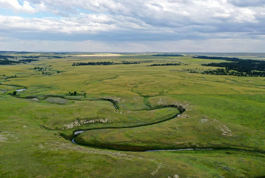 Stunning view of this Montana ranch for sale