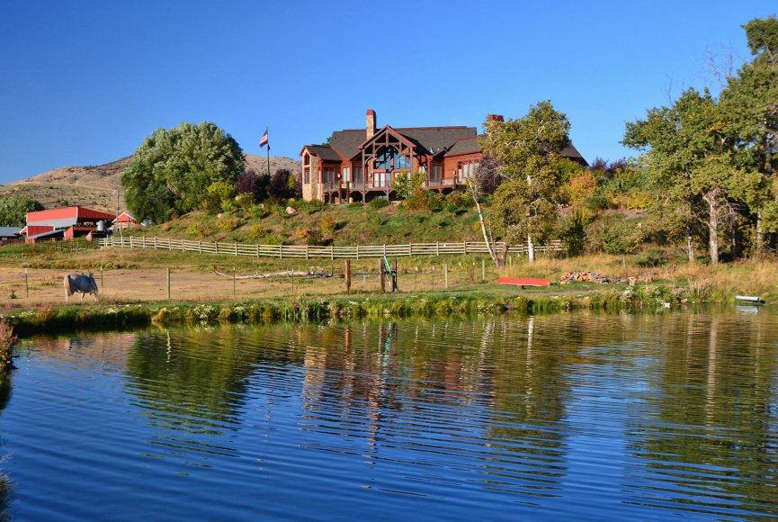 Refreshing water features on this Idaho ranch for sale