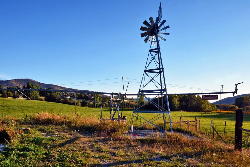 Windmill gauges the breeze on this Idaho property for sale