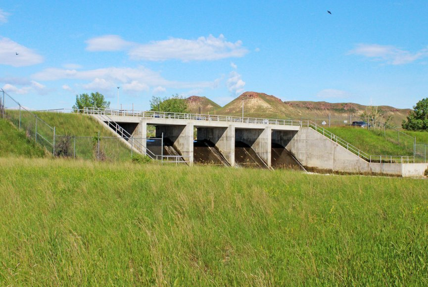 Reservoir on this Wyoming property for sale