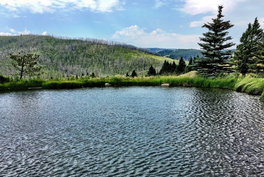 Fresh Montana water source on this Montana ranch for sale