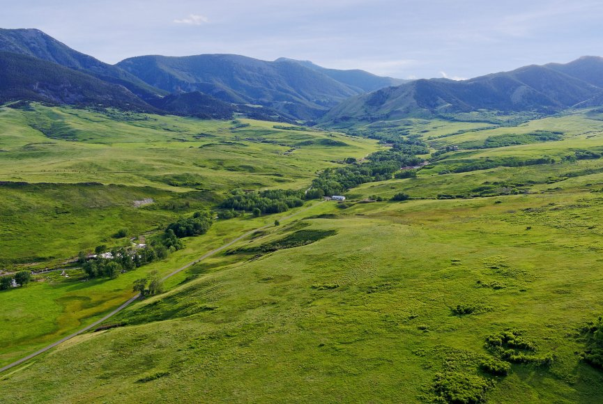Breathtaking landscape of Strand Ranch for sale in Montana