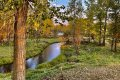 River meandering through this ranch for sale near Bozeman